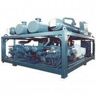 Marine water cooled compress-condensing unit