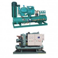 Water-cooled marine unit