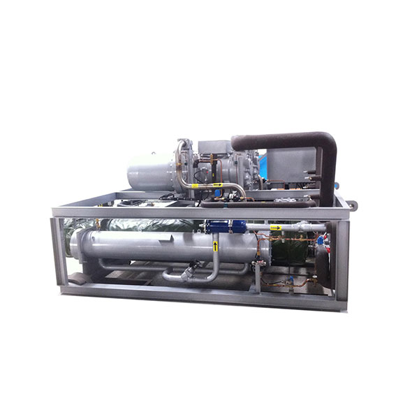 Water cooled low temperature screw-type water chiller