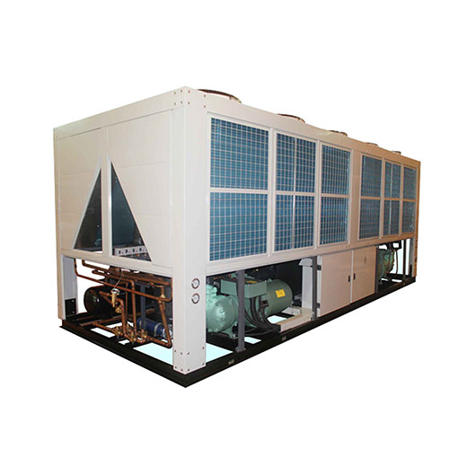 Horizontal air discharge chillers